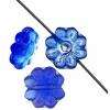 Glass Daisy 9mm Sapphire Aurora Borealis Strung Bead